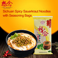 366g Wholesale Instant Noodle Sichuan Spicy Sauerkraut Noodles with seasoning bags Xiang Nian Brand