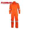 Xinke offshore welding working Fire retardant CVC coverall with reflective tape for oil and gas work