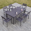 Outdoor Wood Furniture 6 seaters Dining Table and Chairs