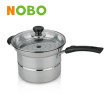 Multifunction cooking pot, Stainless steel noddle pot with long handle