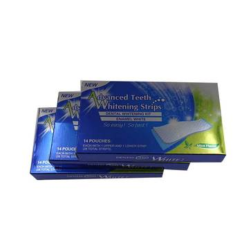 New Design Teeth Whitening Strips, 6% HP Mint Flavor White Strips Teeth Whitening