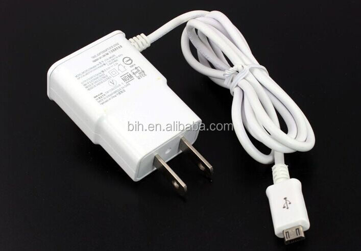 US Micro USB Wall Power Plug Travel Home Wall Charger With Cable For Samsung