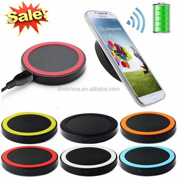 Colorful Qi Wireless Charger Mobile Cellphone Battery Charging Pad for iPhone 8 for Samsung