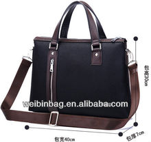2013 New Design Briefcase The Cloth With Leather Business Bag