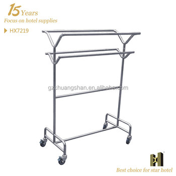 Cheap Price Mobile Stainless Steel clothes rail