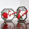 Wedding Table Decoration Centerpieces Chinese Style PVC Fan With Flowers Decoration