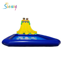 Giant inflatable water park, inflatable water slide, inflatable water pool for events