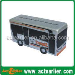 PU foam and Soft Toy PU car/bus no Stress Ball,anti stress ball