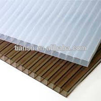 6mm polycarbonate hollow sun sheet/Bulding Materials/Plastic Roofing Material