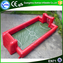best price inflatable soap water soccer field inflatable football pitch