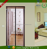 highest quality low price mesh magnetic soft fly screen door for houeses