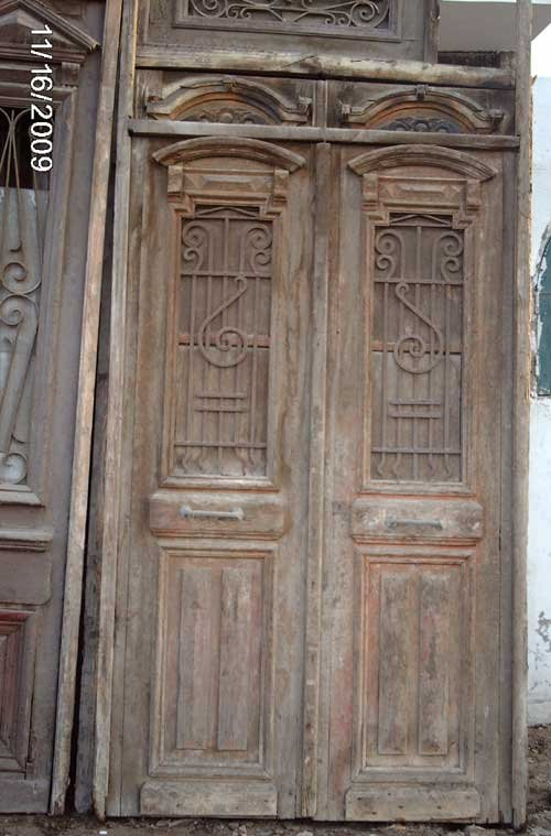 architectural antique double entry doors