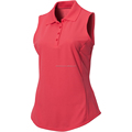 Performance Ladies Jersey polyster golf polo shirt Womens Micro Pique Sleeveless Polo shirt