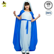 2017 Holy Mother Ave Maria Costumes Masquerade Party Pretty Goddess Role Play Fancy Dress for Kids Girls