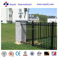 black vinyl coated chain link aluminum ornamental fence supplies manufacturer with ISO 9001