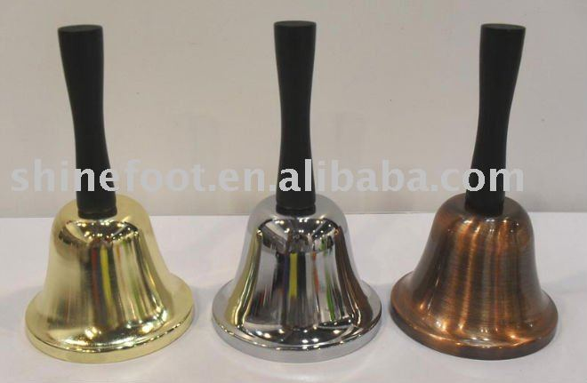 5'' metal school bell A12-H02 with painted wood handle,handle bell,cow bell for celebration (E428)