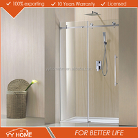 Modern house bathroom frameless sliding glass shower door price
