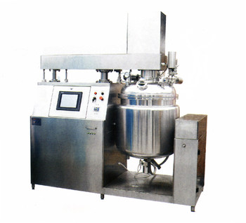 Vacuum emulsification machine