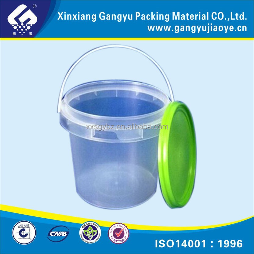 Transparent plastic Bucket with Lid