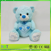 Factory Promotional Gift Custom Plush Toy BlueTeddy Bear With Heart