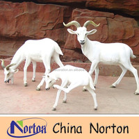 life size garden resin material goat statue NTRS108S