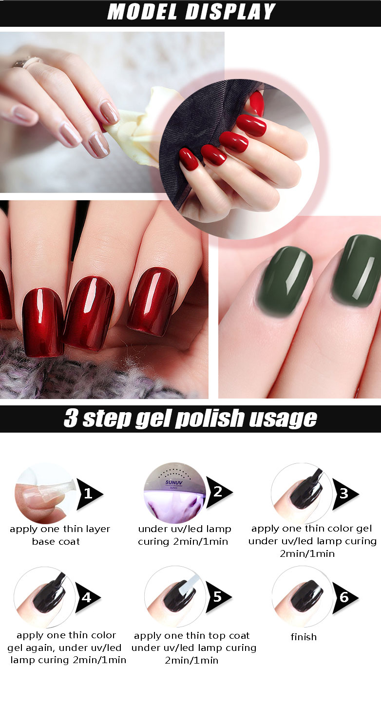 RONIKI Factory Wholesales Sweet Color Soak Off UV LED Nail Gel Polish