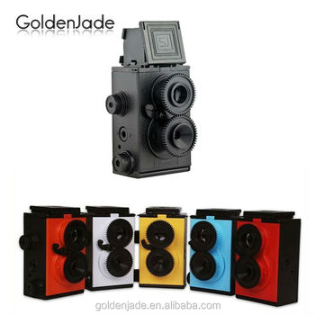 Wholesales 35MM Film Retro Twin Lens Reflex DIY Lomo Camera-blue/black/yellow/red/white/magenta color available