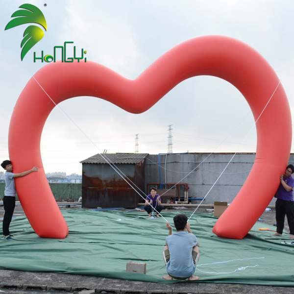 Led Light Inflatable Heart Arch Stand Balloon
