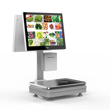 BUSIN 15kg Electronic Digital Price Computing Pricing Scale for Food Meat Fruit shop with touch screen