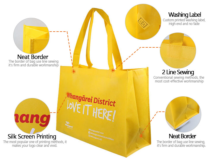 Top Quality Promotional Handled Style Foldable Reusable Shopping Bag PP Non Woven Tote Bag