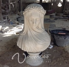 alibaba promotion new product stone carving lady marble bust statue for home decor