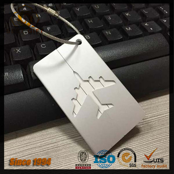 Airplane custom metal luggage tag