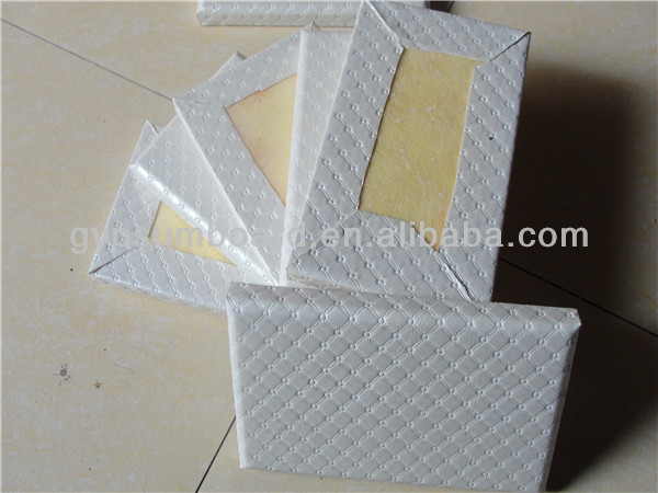 Fiberglass Acoustic Ceiling Board/ Interior acoustic leather fabric covered wall panel for dining room