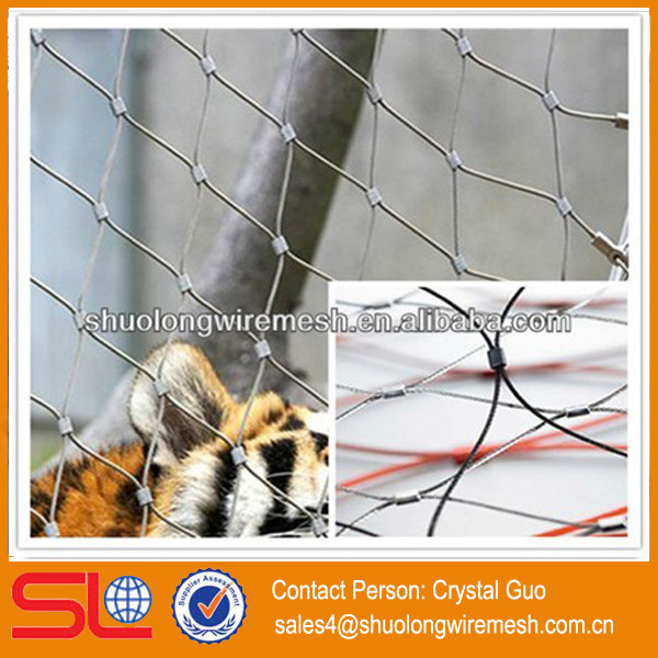 New style ! stainless steel wire rope diamond pattern metal mesh