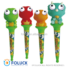 Plastic Novelty Popeyed Pen - Dinosaur Series -