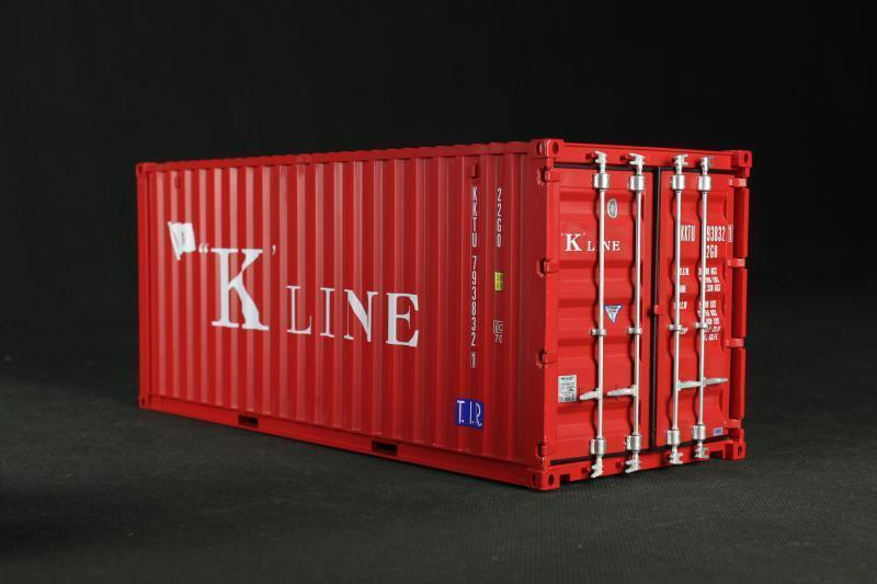 K'line plastic craft model 1:20 20 ft container model