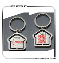 creative house shape 2D barcode oem your logo keychain