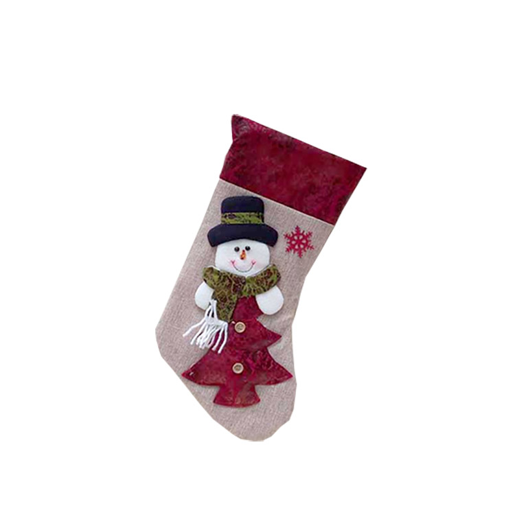 Christmas Stockings Festive Decor Xmas Tree Reindeer Christmas Stocking Sock
