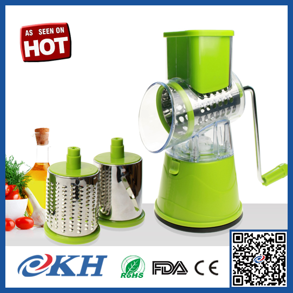 Rotary vegetable tomato and potato chopper dicer slicer,As seen on tv manual vegetable grater chopper