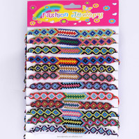 Handcraft Fabric Jewelry Customized Woven Designs Friendship Bracelet