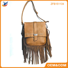 Ladies Fashion overlength fringes handle PU bags bag