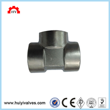 High quality 3 way carbon steel material high pressure female thread pipe fittings