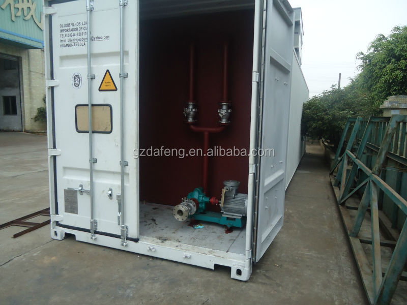 Low price lobito 20ft manual storage filling station/ mobile fuel container inspection report provided