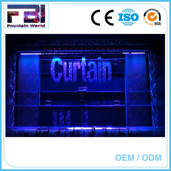 Large Scale Laser Show With digital water curtain fountain digital water curtain