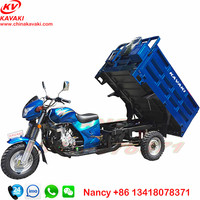 three wheel bike with 200cc 1.25*1.8m carriage 12V9A battery motorcycle tricycle