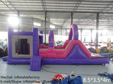 PK Latest color inflatable bouncer combo slide commercial used inflatable bouncy castle