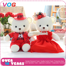 VOG factory wholesale valentines bear creative custom wedding couple teddy bear for marriage