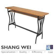 distressed solid tree wood dining room office table 1-drawers