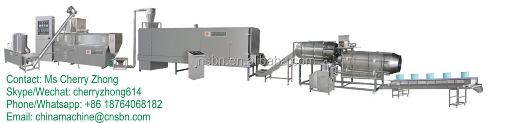 Puffed Corn Snacks Processing Machines/Extruder