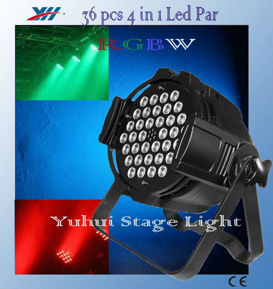 36x3W Led Par Light RGBW 3 in 1 Dj Clubs Stage Effect Light pub decorative lighting